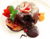 Hot chocolate pudding — Stock Photo