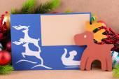 Cartão de Natal artesanal — Fotografia Stock