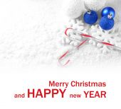 Christmas composition on light background — 图库照片