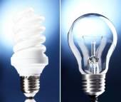 Light bulbs collage — Stock Photo