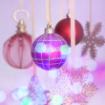 Christmas decorations hanging — Stock Photo #60961747