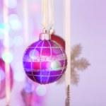 Christmas decorations hanging — Stock Photo #60961797