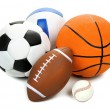 Sports balls isolated on white — Stock Photo #60963157
