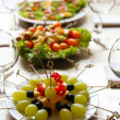 Restaurant table setting with tasty food — Stock Photo #60967159