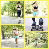 Sport collage. Running — Stock Photo