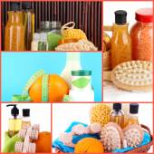 Body care collage. Healthy lifestyle concept — Stock Photo