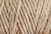 Texture of coil of coarse linen rope — Stock Photo