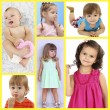Cute little children collage — Stockfoto #61006683