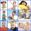Cute little children collage — Stockfoto #61006687