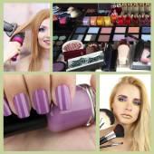 Beauty salon collage — Stock Photo
