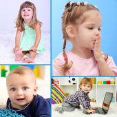 Cute little children collage — Stock Photo