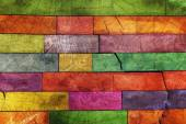 Colorful wooden texture — Stock Photo