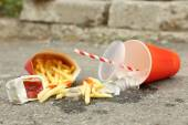 Fast food litter — Stock Photo