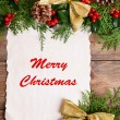 Christmas decoration with paper sheet — Stock Photo #61014773