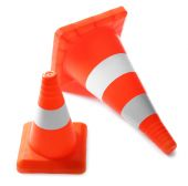 Red Traffic cones — Stock Photo