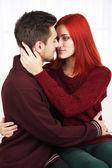Embrace of loving couple — Stock Photo