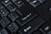 Keyboard of modern laptop — Stock Photo