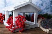 White Handmade birdhouse — Foto de Stock