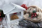 White Handmade birdhouse — Stock Photo