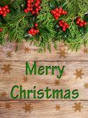 Beautiful Christmas border — Стоковое фото