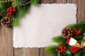 Christmas decoration with paper sheet — Fotografia Stock