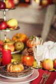Festive autumn serving — Stock Photo