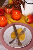 Festive autumn serving — Zdjęcie stockowe