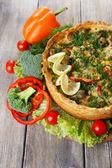 Vegetable pie with broccoli — Stock Photo