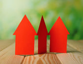 Paper houses on table — Stock Photo