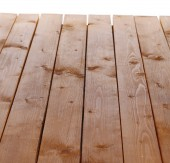 Wooden board isolated white — Stock Photo