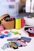 Fashion design, close-up. Sewing items — Stock Photo