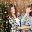 Beautiful young sisters twins. Christmas and New Year — Stock Photo #61040989
