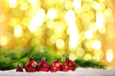 Christmas balls and lights — Stockfoto