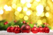 Christmas balls and lights — Stock fotografie