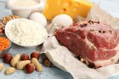 Food high in protein — Stockfoto