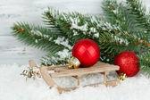 クリスマスの装飾の組成 — ストック写真