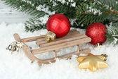 Composizione di addobbi natalizi — Foto Stock