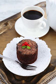 Yummy chocolate cupcake — ストック写真