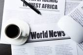 On-line news concept — Stock Photo