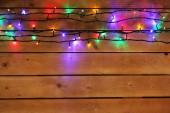 Christmas lights garland — Stock Photo