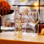 Wine tasting in bar — Stock Photo #61059175