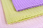 Colorful napkins close-up background — Stock Photo