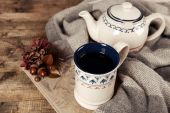 Cup of tea with book — Stock Photo