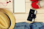 Travel things for traveling — Stock Photo