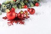 Složení vánoční ozdoby — Stock fotografie