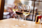 Wine tasting in bar — Stock Photo