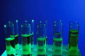 Fluid in test-tubes — Stock Photo