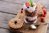 Healthy layered dessert — Stock Photo