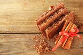 Porous chocolate with cocoa — Stock Photo