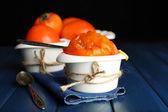 Ripe sweet persimmons — Stock Photo